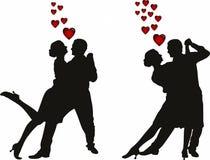 Απεικόνιση της σκιαγραφίας ζευγών αγάπης απεικόνιση αποθεμάτων