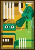 Απεικόνιση της τεχνολογίας πολυμέσων Στοκ Εικόνα
