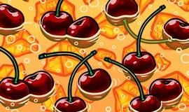Απεικόνιση της φρέσκιας λεμονάδας θερινών κερασιών Στοκ Εικόνες