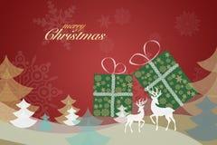 Απεικόνιση της Χαρούμενα Χριστούγεννας & του υποβάθρου καλής χρονιάς στοκ εικόνες