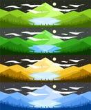 Απεικόνιση τοπίων κατά τη διάρκεια της νύχτας διανυσματική απεικόνιση