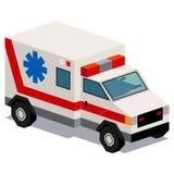 Απεικόνιση του αυτοκινήτου ασθενοφόρων που απομονώνεται στο άσπρο υπόβαθρο Στοκ φωτογραφίες με δικαίωμα ελεύθερης χρήσης
