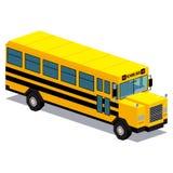 Απεικόνιση του αυτοκινήτου σχολικών λεωφορείων που απομονώνεται στο άσπρο υπόβαθρο Στοκ Εικόνες