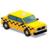 Απεικόνιση του αυτοκινήτου ταξί που απομονώνεται στο άσπρο υπόβαθρο Στοκ φωτογραφία με δικαίωμα ελεύθερης χρήσης