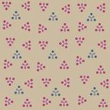 Απεικόνιση του αφηρημένου άνευ ραφής γκρίζου υποβάθρου και των χρωματισμένων κύκλων στα τρίγωνα για τις κάρτες ή τις διακοσμήσεις απεικόνιση αποθεμάτων