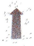 Απεικόνιση του βέλους με τους ανθρώπους απεικόνιση αποθεμάτων