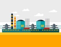 Απεικόνιση του βιομηχανικού πυρηνικού σταθμού μέσα Στοκ εικόνες με δικαίωμα ελεύθερης χρήσης