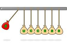 Απεικόνιση του δολαρίου εκκρεμών διανυσματική απεικόνιση