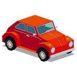 Απεικόνιση του εκλεκτής ποιότητας αυτοκινήτου που απομονώνεται στο άσπρο υπόβαθρο Στοκ Εικόνες