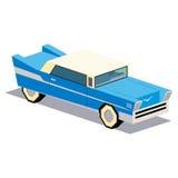 Απεικόνιση του εκλεκτής ποιότητας αυτοκινήτου που απομονώνεται στο άσπρο υπόβαθρο Στοκ Φωτογραφίες