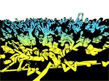 Απεικόνιση του εύθυμου πλήθους των ανθρώπων που έχουν τη διασκέδαση στη συναυλία Στοκ φωτογραφίες με δικαίωμα ελεύθερης χρήσης