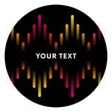 Απεικόνιση του ζωηρόχρωμου μουσικού φραγμού που παρουσιάζει όγκο sticker Ζωηρόχρωμο υπόβαθρο υγιών κυμάτων εξισωτών μουσικής επίσ απεικόνιση αποθεμάτων