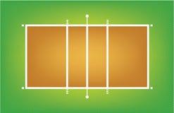 Απεικόνιση του δικαστηρίου ή του τομέα πετοσφαίρισης Στοκ εικόνα με δικαίωμα ελεύθερης χρήσης