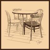Απεικόνιση του καφέ οδών Διανυσματική απεικόνιση