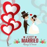 Απεικόνιση του καλού γλυκού γάμου ζευγών Στοκ Εικόνες