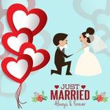 Απεικόνιση του καλού γλυκού γάμου ζευγών Στοκ Εικόνα