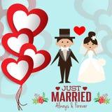 Απεικόνιση του καλού γλυκού γάμου ζευγών Στοκ φωτογραφίες με δικαίωμα ελεύθερης χρήσης