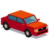Απεικόνιση του κόκκινου αυτοκινήτου που απομονώνεται στο άσπρο υπόβαθρο Στοκ Φωτογραφίες