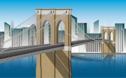 Απεικόνιση του Μανχάτταν γεφυρών του Μπρούκλιν Στοκ εικόνες με δικαίωμα ελεύθερης χρήσης