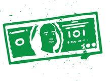 Απεικόνιση του Μπιλ δολαρίων Στοκ φωτογραφία με δικαίωμα ελεύθερης χρήσης