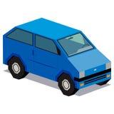 Απεικόνιση του μπλε αυτοκινήτου που απομονώνεται στο άσπρο υπόβαθρο Στοκ Εικόνες