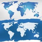Απεικόνιση του παγκόσμιου χάρτη Στοκ Εικόνες