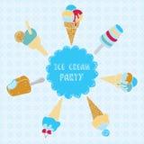 Απεικόνιση του παγωτού Στοκ εικόνες με δικαίωμα ελεύθερης χρήσης