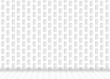 Απεικόνιση του πολυτελούς άσπρου υποβάθρου τοίχων σχεδίων μορφής ορθογωνίων με την αντανάκλαση στο πάτωμα Στοκ φωτογραφία με δικαίωμα ελεύθερης χρήσης