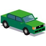 Απεικόνιση του πράσινου αυτοκινήτου που απομονώνεται στο άσπρο υπόβαθρο Στοκ φωτογραφίες με δικαίωμα ελεύθερης χρήσης
