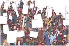 Απεικόνιση του πλήθους που βαδίζει και που καταδεικνύει για την ισότητα Στοκ φωτογραφία με δικαίωμα ελεύθερης χρήσης