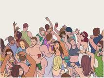 Απεικόνιση του πλήθους φεστιβάλ χορού Στοκ εικόνες με δικαίωμα ελεύθερης χρήσης