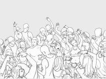Απεικόνιση του πλήθους φεστιβάλ χορού Στοκ φωτογραφίες με δικαίωμα ελεύθερης χρήσης