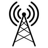Απεικόνιση του ραδιο συμβόλου κεραιών διανυσματική απεικόνιση