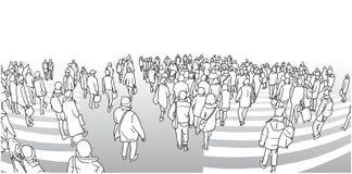 Απεικόνιση του δρόμου με έντονη κίνηση που διασχίζει στην προοπτική Στοκ Φωτογραφίες