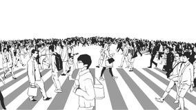 Απεικόνιση του δρόμου με έντονη κίνηση που διασχίζει στην προοπτική Στοκ Φωτογραφία
