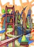 Απεικόνιση του Σαν Φρανσίσκο Στοκ εικόνα με δικαίωμα ελεύθερης χρήσης