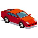 Απεικόνιση του σπορ αυτοκίνητο που απομονώνεται στο άσπρο υπόβαθρο Στοκ Φωτογραφία