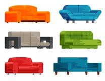 Απεικόνιση του συνόλου καναπέδων Στοκ Εικόνα