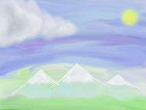 Απεικόνιση του τοπίου βουνών στοκ φωτογραφία με δικαίωμα ελεύθερης χρήσης