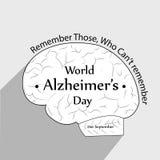 Απεικόνιση του υποβάθρου ημέρας του παγκόσμιου Alzheimer ` s Ελεύθερη απεικόνιση δικαιώματος