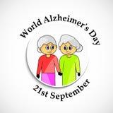 Απεικόνιση του υποβάθρου ημέρας του παγκόσμιου Alzheimer ` s Στοκ Φωτογραφίες