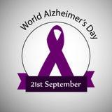 Απεικόνιση του υποβάθρου ημέρας του παγκόσμιου Alzheimer ` s Διανυσματική απεικόνιση