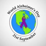 Απεικόνιση του υποβάθρου ημέρας του παγκόσμιου Alzheimer ` s Απεικόνιση αποθεμάτων