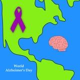 Απεικόνιση του υποβάθρου ημέρας του παγκόσμιου Alzheimer ` s Στοκ φωτογραφία με δικαίωμα ελεύθερης χρήσης