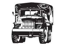 Απεικόνιση του φορτηγού από-εθνικών οδών Στοκ εικόνες με δικαίωμα ελεύθερης χρήσης