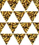 Απεικόνιση του φρέσκου άνευ ραφής σχεδίου σημαιών τριγώνων μπανανών γεωμετρικού για το σχέδιό σας Στοκ φωτογραφία με δικαίωμα ελεύθερης χρήσης