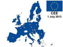 Χάρτης 2013 της Κεντρικής και Ανατολικής Ευρώπης Στοκ Εικόνα