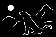 Απεικόνιση του λύκου Στοκ Εικόνες