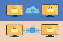 Απεικόνιση του HTTP και https της ασφάλειας Στοκ εικόνα με δικαίωμα ελεύθερης χρήσης