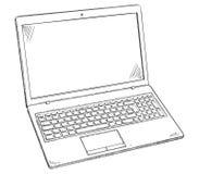 Απεικόνιση του PC lap-top - ύφος σκίτσων doodle Στοκ φωτογραφία με δικαίωμα ελεύθερης χρήσης